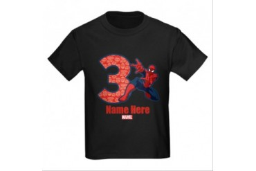 CafePress SPIDER-MAN PERSONALIZED 3RD BIRTHDAY T-SHIRT