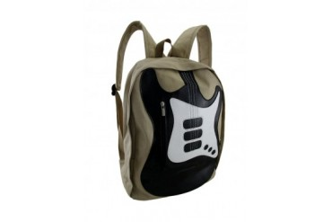 Electric Bass Guitar Cotton Canvas Backpack