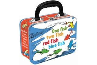 Dr Seuss One Fish Two Fish Red Fish Blue Fish Tin Tote Lunch Box