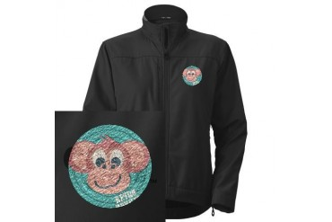 retro monkey.psd Funny Women's Performance Jacket by CafePress