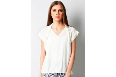 Now & Forever Vneck Front Pleated Blouse