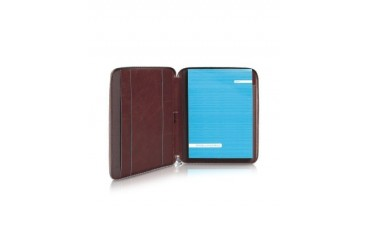Blue Square - Zip Around Slim Notepad Leather Holder