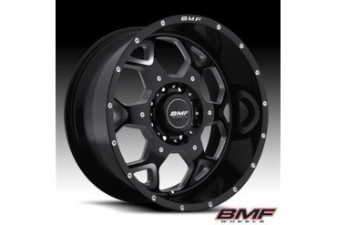 BMF Wheels S.O.T.A., 20x9 with 8 on 170 Bolt Pattern - Death Metal Black and Machined 460B-090817000 BMF Wheels