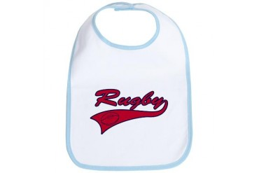 Navy Blue and Red Rugby Navy Bib by CafePress