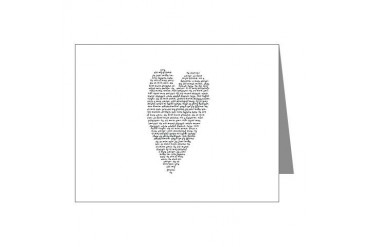 Black and white Note Cards Pk of 20 by CafePress