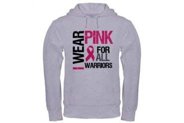 I Wear Pink Warriors Hooded Sweatshirt