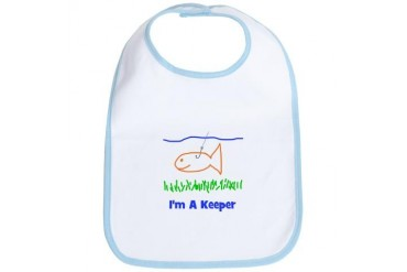 I'm A Keeper Funny Bib by CafePress