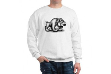 BULLDOG Ash Grey Bulldog Sweatshirt by CafePress