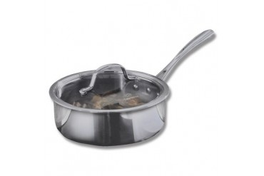 Calphalon Tri-Ply Stainless Steel 2qt Shallow Sauce Pan and Cover