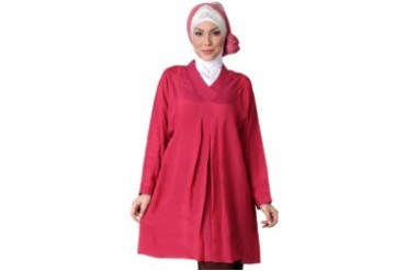 Sofie Design Blouse Sateen Silk Merah