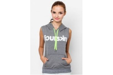 Fourskin Grey Sleeveless Hoodie