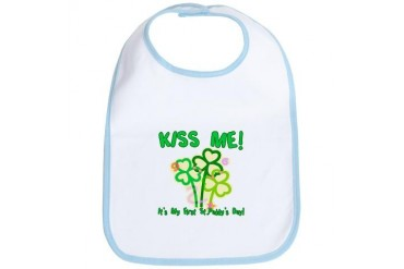 Kiss Me! Baby's First St. Pat Bib