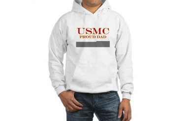 USMC Proud Dad Military Hooded Sweatshirt by CafePress