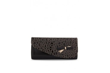 Black Queen Pattern Print Clutch