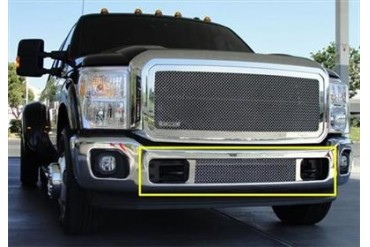 T-Rex Grilles Upper Class; Mesh Bumper Grille Bolt-On Insert 55546 Bumper Valance Grille Inserts