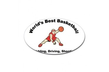 Worlds Best Basketball Cool Sticker Oval by CafePress