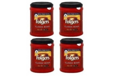 Folgers Classic Roast Ground Coffee 4 Can Pack