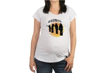 ride em cowboy in white Horse Maternity T-Shirt by CafePress