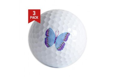 Purple Blue Butterfly Animal Golf Balls by CafePress