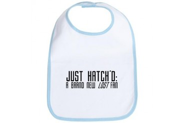 LOST: 'Just Hatch'd' Baby Bib by CafePress