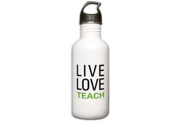 Live Love Teach Stainless Water Bottle 1.0L
