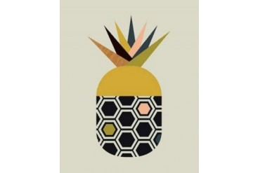 Pineapple Poster Print by Little Design Haus (24 x 30)
