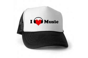 I love music Music Trucker Hat by CafePress