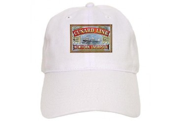 Cunard Line 1875 New york Cap by CafePress