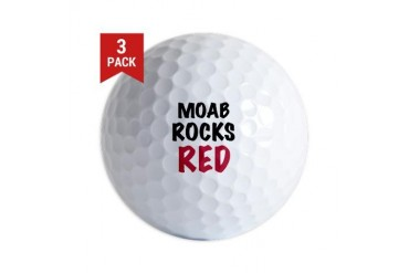 Moab rocks red Red Golf Balls by CafePress