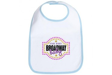 Stage Right Broadway Baby Baby Bib by CafePress