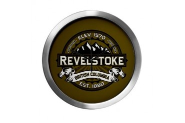 Revelstoke Olive Canada Modern Wall Clock by CafePress