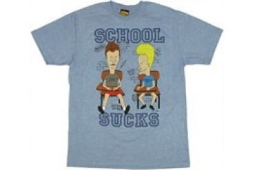 Beavis and Butthead School Sucks T-Shirt Sheer