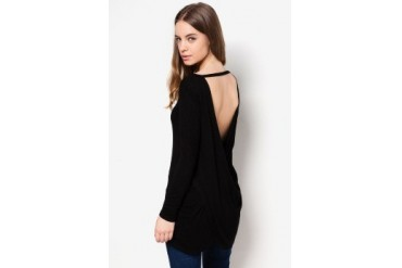 Something Borrowed Draped Back Top