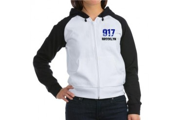 917 Brooklyn Women's Raglan Hoodie by CafePress