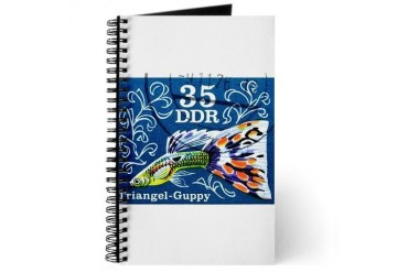 1976 Germany Triangle Fish Guppy Stamp Vintage Journal by CafePress