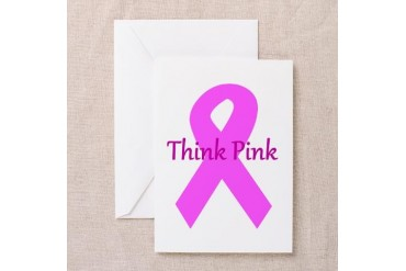 Breast cancer awareness think pink ribbon large.p Breast cancer Greeting Cards Pk of 20 by CafePress
