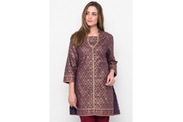 Accent Festive Collection Cotton Print Long Sleeves Tunic