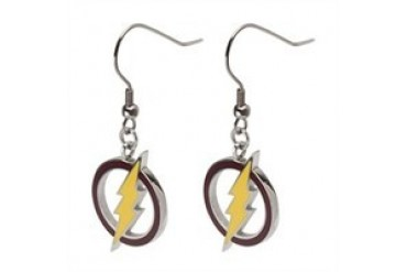 DC Comics Flash Color Logo French Hook Dangle Earrings