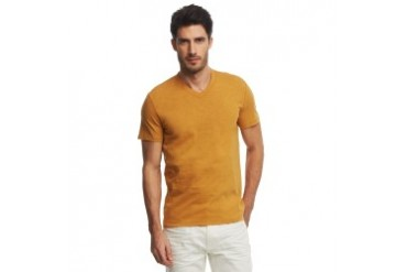 V-Neck Slub T-Shirt