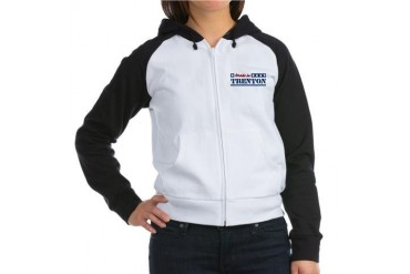 Made in Trenton New jersey Women's Raglan Hoodie by CafePress