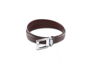 Polo Silver Leather Buckle Belt
