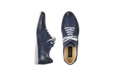 Signature Blue Leather Sneaker Shoes