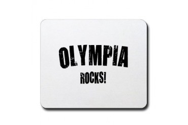 Olympia Rocks Location Mousepad by CafePress