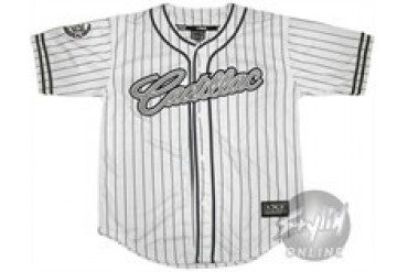 Cadillac Striped #22 Embroidered Baseball Jersey