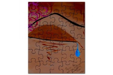 Pain Modern Puzzle by CafePress