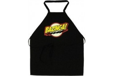 Big Bang Theory Bazinga Black Apron
