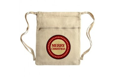 Merry Christmas Sack Pack Art Cinch Sack by CafePress