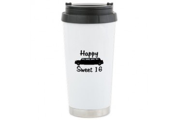 Sweet 16 Black Limo Birthday Ceramic Travel Mug by CafePress