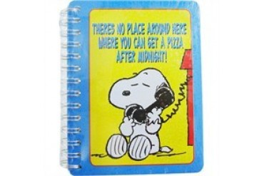 Peanuts Snoopy No Place Around Here Where You Can Get a Pizza Tin Address Book