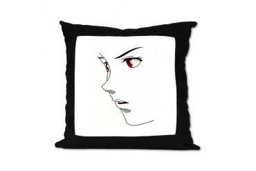Female Anime Face Anime Suede Pillow by CafePress